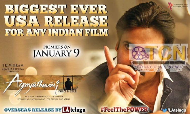 US Premier Shows Collections Agnyaathavaasi Premiers