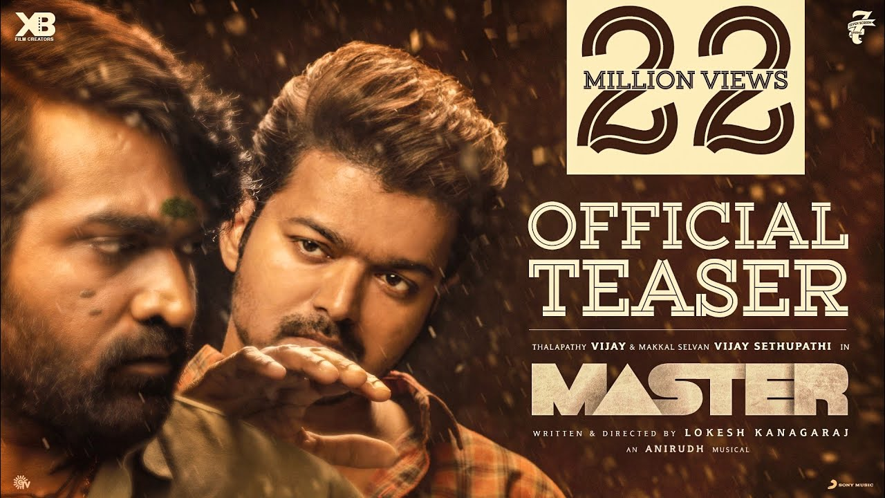 Actor Thalapathy Vijay Master movie Official Teaser