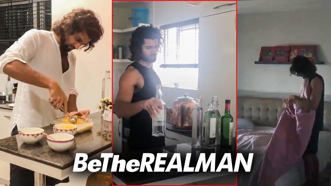 Actor Vijay Devarakonda home cleaning and cooking video