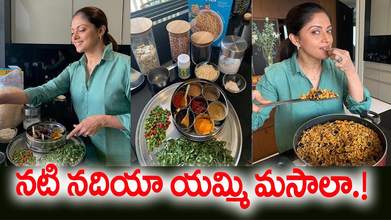 Attarintiki Daredi Fame Nadiya cooking at home