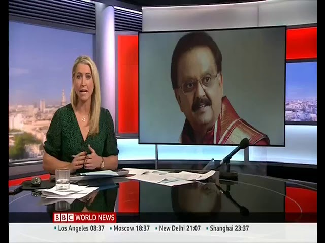 BBC news about SP Balasubramanian Demise
