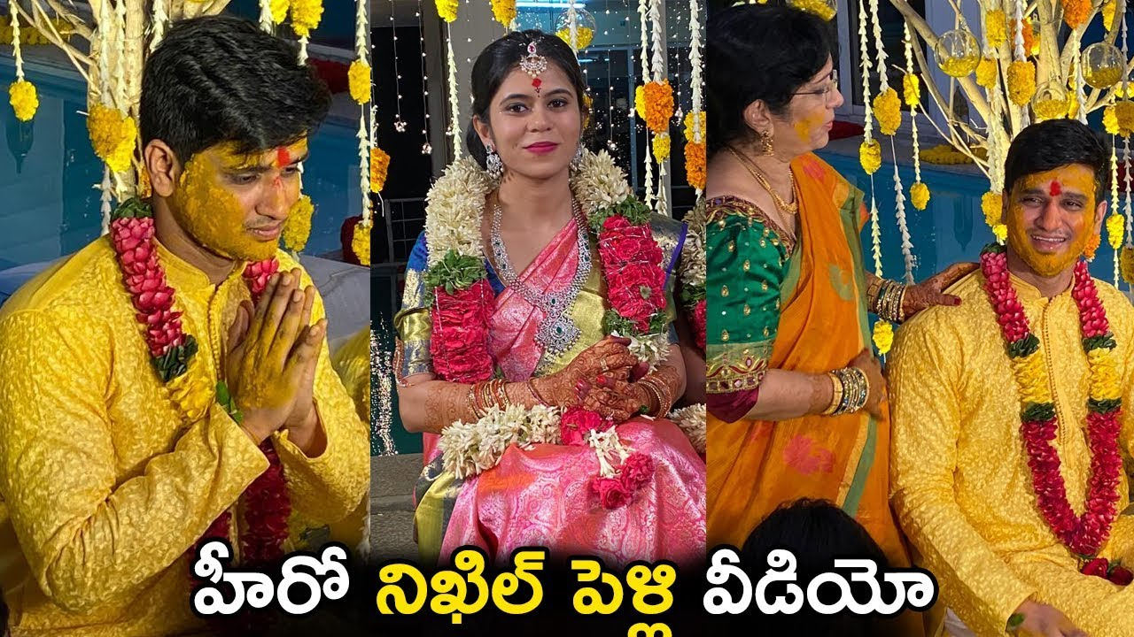 Hero Nikhil weds pallavi Marriage Video
