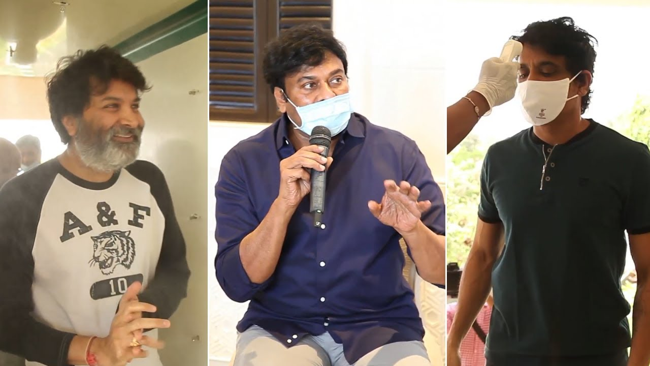 Mega Star Chiranjeevi Meeting Visuals With TFI Celebs