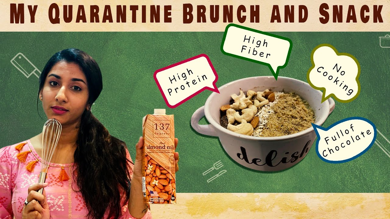My Quarantine Brunch and Snack Anchor Vishnu Priya Bhimeneni