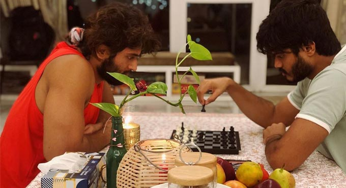 Vijay Deverakonda And His Brother Playing Games