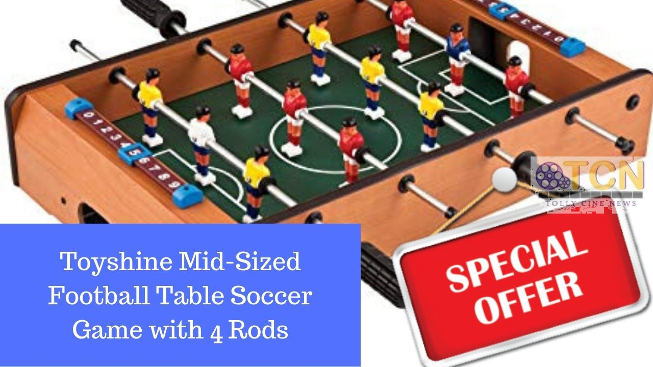 Buy toyshine mid sized football table soccer game with 4 rods