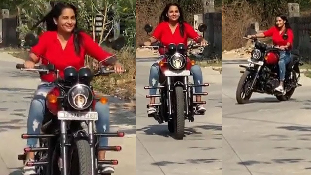 tollywood Actress Himaja Bullet Riding